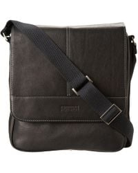78529ee5c43 Kenneth Cole Reaction - Columbian Leather Vertical Flapover Tablet Case ( dark Brown) Messenger Bags