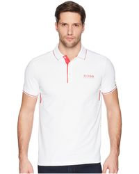 BOSS Green - Paule Mk 1 10204501 (white) Men's Short Sleeve Knit - Lyst