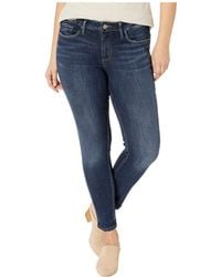 Silver Jeans Co. - Plus Size Suki Mid-rise Curvy Fit Skinny Jeans In Indigo W93023ssx317 - Lyst