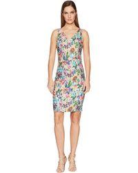 Nicole Miller - Kenna V-neck Dress (multicolored) Women's Dress - Lyst