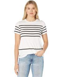 Lauren by Ralph Lauren - Striped Cotton-blend Top - Lyst
