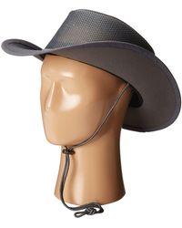 Stetson - Mesh Covered Safari With Chin Cord (clay) Safari Hats - Lyst