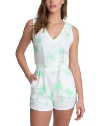Juicy Couture Printed Sleeveless Romper - Green
