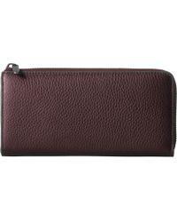 Ecco Sp 3 Large Zip Around Wallet - Brown