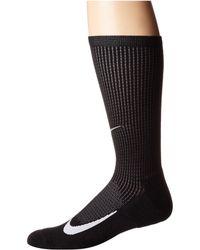 Nike - Elite Merino Cushioned Crew Running Socks (black/dark Grey/white) Crew Cut Socks Shoes - Lyst