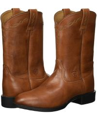 Ariat - Heritage Roper (naturally Cognac) Cowboy Boots - Lyst