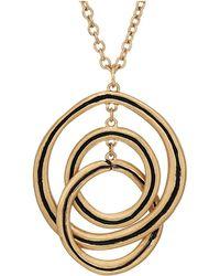 The Sak - Ribbed Orbit Pendant Necklace 28 (gold) Necklace - Lyst