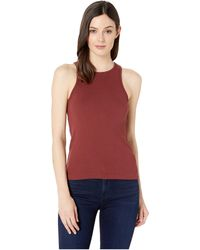 a6a142bbb6 Three Dots - Heritage Knit Racerback Tank Top (brunello) Women's Sleeveless  - Lyst