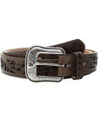 Ariat - Floral Scroll Belt (black/brown) Men's Belts - Lyst
