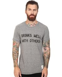The Original Retro Brand - Drinks Well With Other Short Sleeve Tri-blend Tee - Lyst