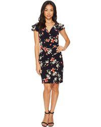 Lauren by Ralph Lauren - Petite Brisa Kessle Floral Dress (lighthouse Navy/coral/multi) Women's Dress - Lyst