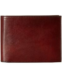 Bosca - Old Leather Collection - Continental Id Wallet (dark Brown Leather) Bi-fold Wallet - Lyst