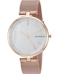 Skagen - Signatur - Skw2709 (rose Gold) Watches - Lyst