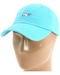 Vineyard Vines - Whale Logo Baseball Hat (aqua Blue) Caps - Lyst
