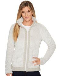 The North Face - Furry Fleece Full Zip (rainy Day Ivory) Women's Fleece - Lyst
