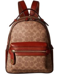 9ba31d02af7f0 COACH - Campus Backpack 23 In Coated Canvas Signature (b4 tan Rust) Backpack