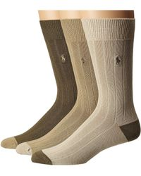 Polo Ralph Lauren - 3-pack Rib Crew With Contrast Heel toe And Polo 847c0ab5164