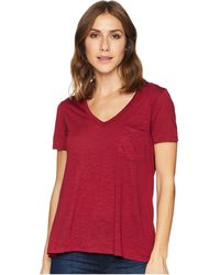 Stetson - 1582 Rayon Jersey Knit Short Sleeve V-neck Tee (wine) Women's Clothing - Lyst