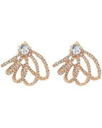 Alexis Bittar - Crystal Lace Orbiting Post Earrings (rose Gold) Earring - Lyst