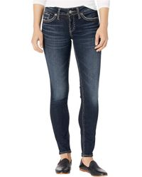 Silver Jeans Co. Suki Mid-rise Curvy Fit Skinny Jeans L93136sdg458 - Blue