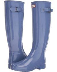 HUNTER - Original Refined Gloss Rain Boots (tawny) Women's Rain Boots - Lyst