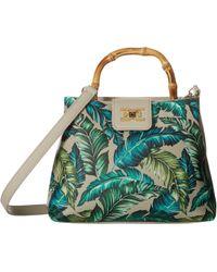 Sam Edelman Lois Bamboo Top-handle Mini Bag (green Leaf) Top-handle Handbags