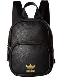 adidas Originals - Originals Mini Pu Leather Backpack (black gold) Backpack  Bags - f6a36b24bd