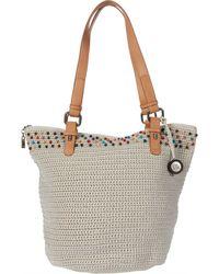 The Sak Silverwood Crochet Shopper - White
