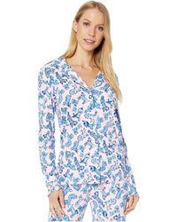 Lilly Pulitzer - Ruffle Pj Button-up Top - Lyst