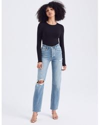 Abercrombie & Fitch High Rise Dad Jeans - Blue