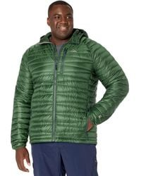 L.L. Bean Big Tall Ultralight 850 Down Sweater Hooded Jacket - Tall - Green