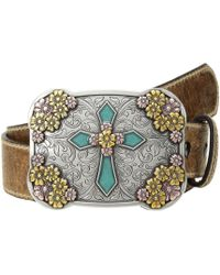 Ariat Vintage Stap With Cross Buckle Belt - Brown