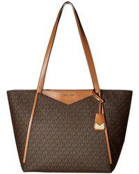 9a79587399770 MICHAEL Michael Kors - Whitney Large Top Zip Tote (vanilla) Tote Handbags -  Lyst