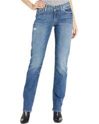 Silver Jeans Co. - Suki Mid-rise Curvy Fit Straight Leg Jeans In Indigo L93413sop272- - Lyst