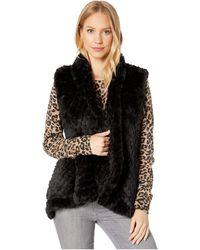Love Token Ali Faux Fur Vest - Black