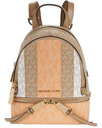 MICHAEL Michael Kors - Rhea Zip Extra Small Messenger Backpack - Lyst