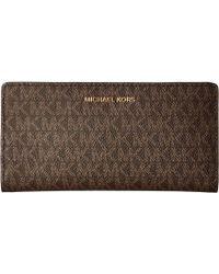 81e5ad23ca0e MICHAEL Michael Kors - Large Card Case Carryall (oxblood Multi) Credit Card  Wallet -