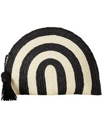 San Diego Hat Company - Bsb1723 Wheatstraw Clutch Stripe With Tassel (black) Clutch Handbags - Lyst