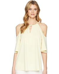 Ellen Tracy - Cold Shoulder Top (daffodil) Women's Clothing - Lyst