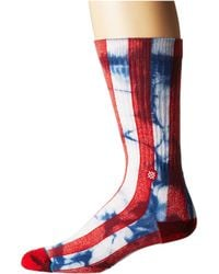 Stance - Star (red) Men's Crew Cut Socks Shoes - Lyst
