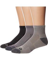 Merrell 3 Pack Performance Quarter Socks Hiking - Gray