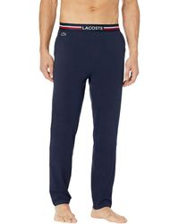 Lacoste Semi Fancy Waistband Pajama Pants - Blue