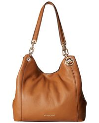 MICHAEL Michael Kors - Fulton Large Charm Shoulder Tote (acorn) Tote Handbags - Lyst