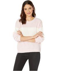 85fd3928eb1 Sanctuary - Billie Color Block Sweater (heather Cherry Blossom natural)  Women s Sweater -