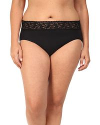 4c9eb12adcb1 Hanky Panky - Plus Size Organic Cotton Signature Lace French Brief - Lyst