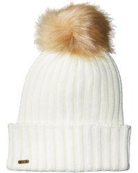 San Diego Hat Company - Knh3476 Beanie With Pom Pom (ivory) Beanies - Lyst
