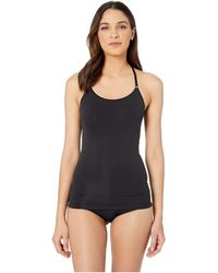 Yummie By Heather Thomson Ultralight Seamless Smoothing Cami With Lace T-back - Black
