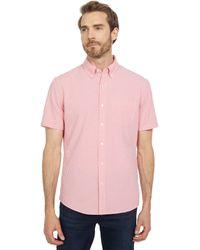 Michael Kors Short Sleeve Gingham Seersucker - Pink