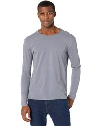 AllSaints Figure Long Sleeve Crew Clothing - Gray