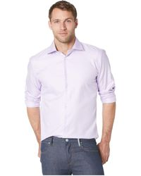 Bugatchi - Shaped Fit Long Sleeve Woven Shirt (lavender) Men's Clothing - Lyst
